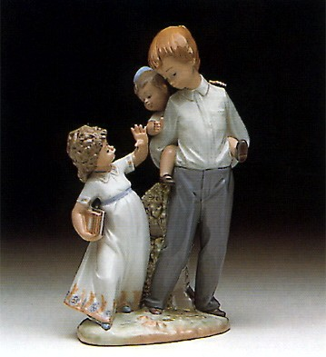 Lladro Back To School 1990-93 Porcelain Figurine