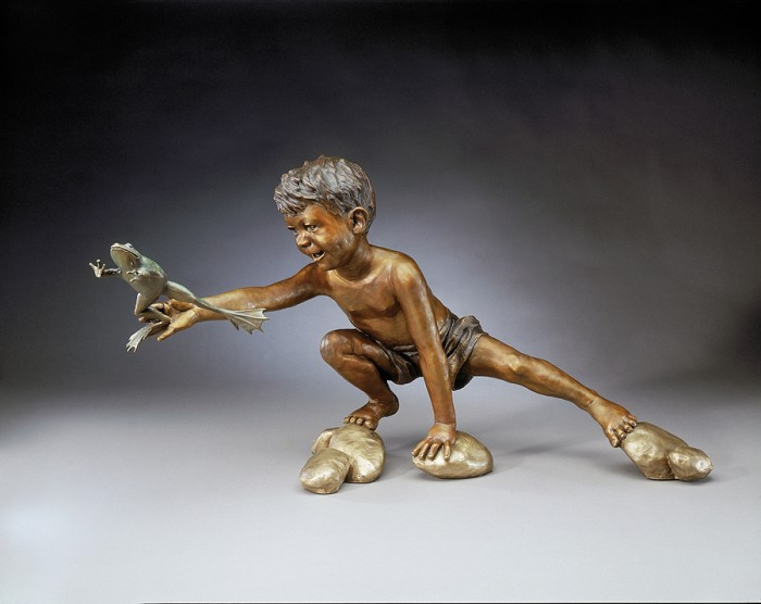 Mark Hopkins Mud Buddies Bronze Sculpture