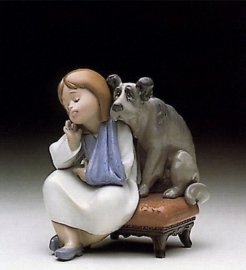 Lladro We Can't Play 1990-98 Porcelain Figurine