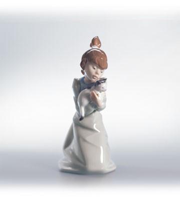 LladroSleepy Kitten 1990-02Porcelain Figurine