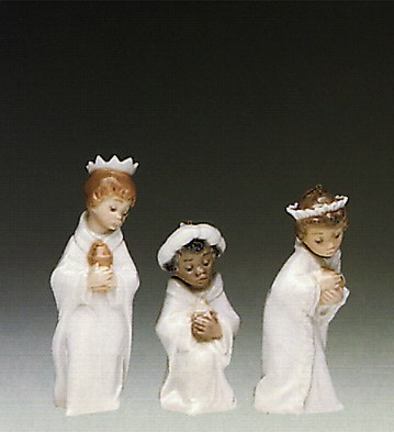 Lladro Three Kings Ornaments 1990 Only Porcelain Figurine
