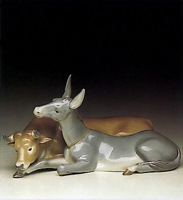 LladroBull & Donkey 1991-96Porcelain Figurine