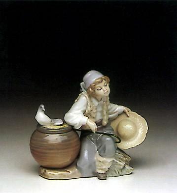 LladroOld Shepherd 1991-96Porcelain Figurine