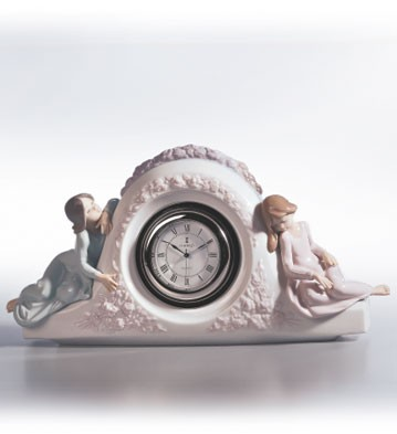 Lladro Two Sisters Clock 1990-02