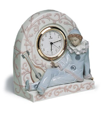 Retired Lladro Pierrot Clock