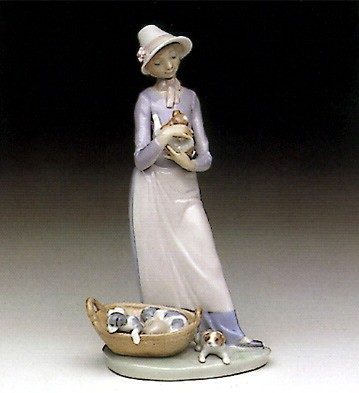 Lladro My Puppy 1991-93 Porcelain Figurine