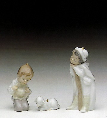 Lladro Holy Shepherds (with Hooks) 1991 Only Porcelain Figurine