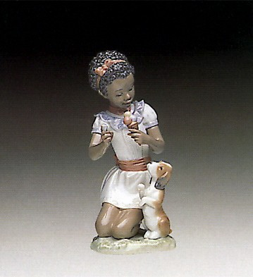 Lladro Black Legacy Sharing Sweets Porcelain Figurine