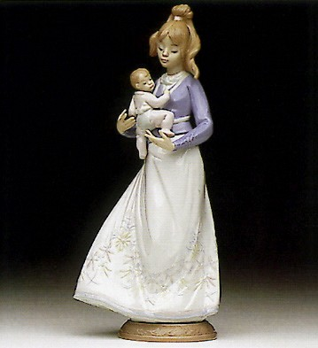 Lladro Modern Mother 1992-96 Porcelain Figurine