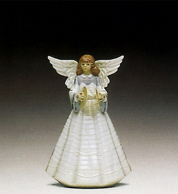 Lladro Angelic Cymbalist 1992 Only Porcelain Figurine