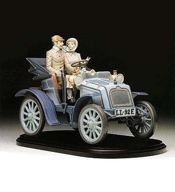 Lladro Motoring In Style Le1500 1992-97 Porcelain Figurine