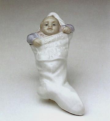 LladroBabys First Christmas 1992 OrnamentPorcelain Figurine