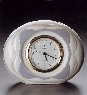 LladroGarland Quartz Clock 1990-95Porcelain Figurine