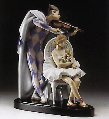 Lladro Jesters Serenade Society Le3000 Porcelain Figurine