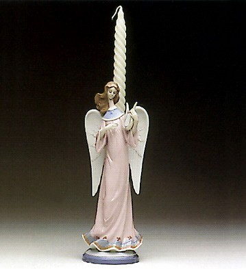 Lladro Angel With Lyre Candelholder 1992-97
