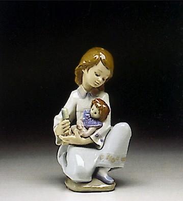 LladroThoughful Caress 1993-96Porcelain Figurine