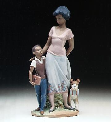 Lladro Black LegacyReady To LearnPorcelain Figurine