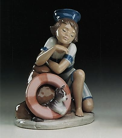 Lladro Monday's Child (boy) 1993-97 Porcelain Figurine