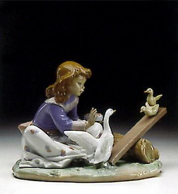 LladroBarnyard See-Saw 1993-97Porcelain Figurine