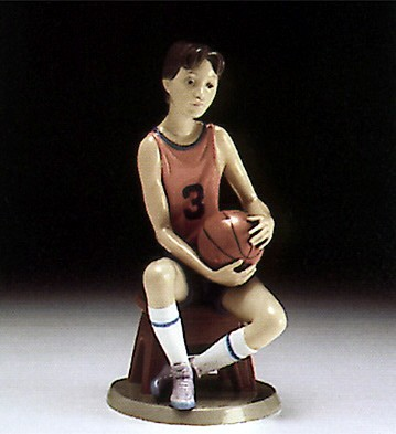 Lladro Basketball Player 1994-97 Porcelain Figurine