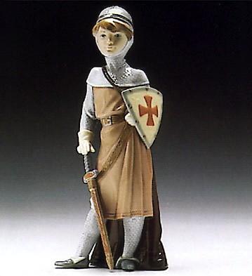 LladroMedieval Soldier 1994-96Porcelain Figurine