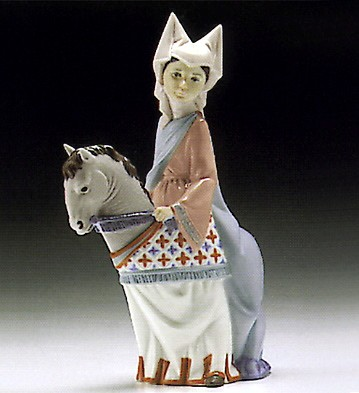 LladroMedieval Lady 1994-96 ***Porcelain Figurine