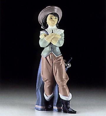 LladroMuskateer Porthos 1994-96Porcelain Figurine