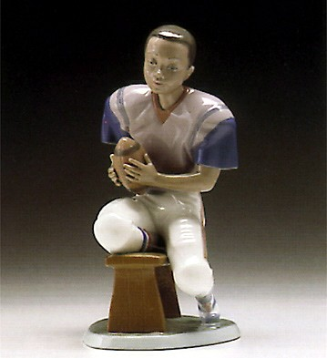 Lladro Football Player 1994-97 Porcelain Figurine