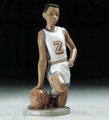 LladroBasketball Player 1994-97Porcelain Figurine