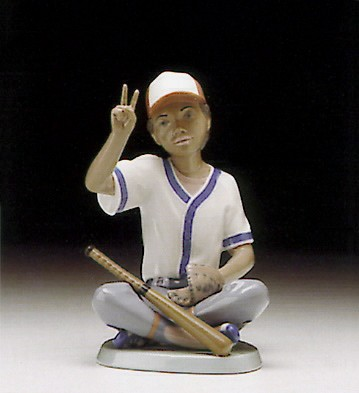 Lladro Baseball Player 1994-97 Porcelain Figurine
