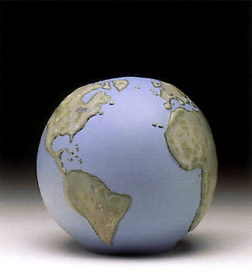Lladro Globe Paperweight Porcelain Figurine