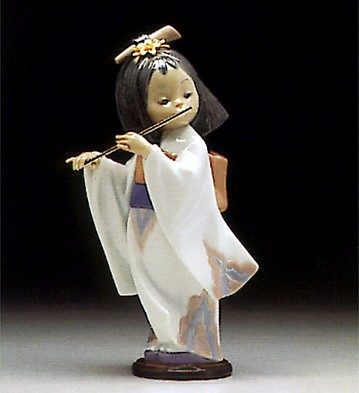 LladroPlaying The Flute 1997-98Porcelain Figurine