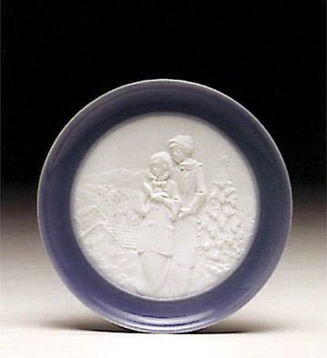 Lladro Christmas Melodies Plate