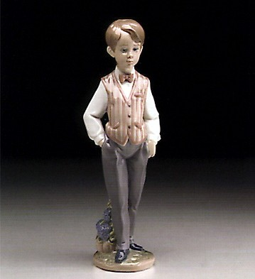 LladroEuropean Boy 1995-99Porcelain Figurine