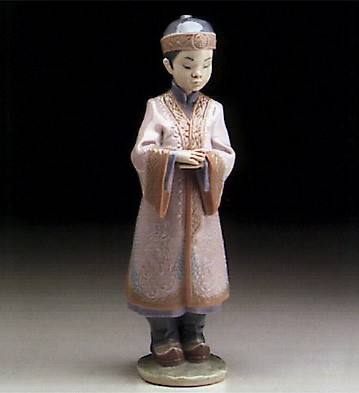 Lladro Asian Boy 1995-99 Porcelain Figurine