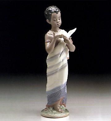 LladroAfrican Boy 1995-99Porcelain Figurine