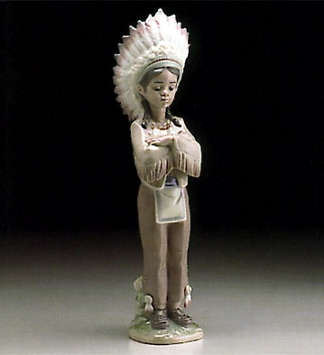 LladroAmerican Indian Boy 1995-99Porcelain Figurine
