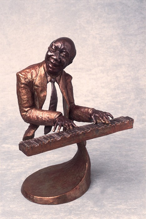 Mark Hopkins Jazz Piano Bronze Sculpture