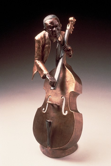 Mark Hopkins Jazz Bass Bronze Sculpture