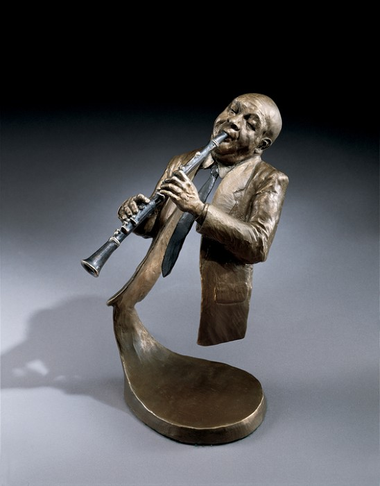 Mark Hopkins Jazz Clarinet Bronze Sculpture