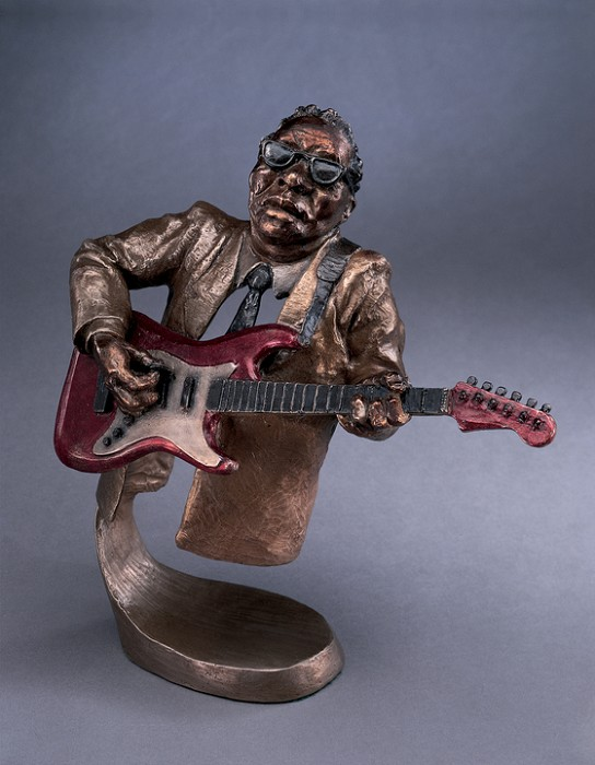 Mark Hopkins Jazz Guitar Bronze Sculpture