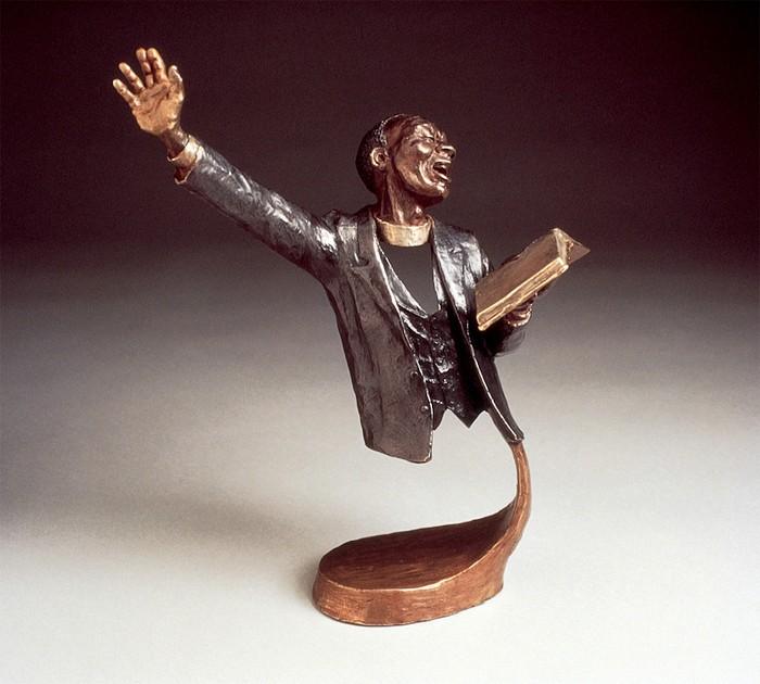 Mark HopkinsBy The WordBronze Sculpture