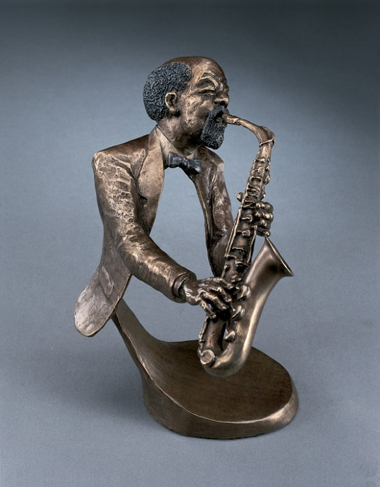Mark Hopkins Jazz Sax II Bronze Sculpture