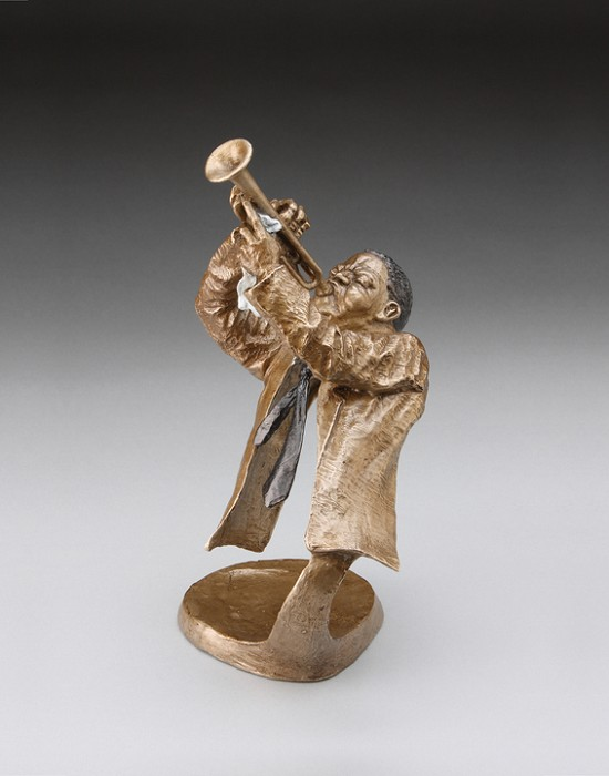 Mark Hopkins Jazz Trumpet II Bronze Sculpture