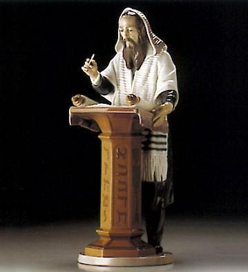 LladroReading The Torah 1995-2000Porcelain Figurine