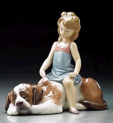 LladroContented Companion 1995-00Porcelain Figurine
