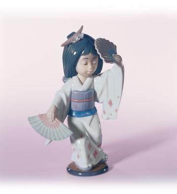 LladroOriental Dance 1995-13Porcelain Figurine
