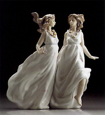 Lladro Allegory Of Spring 1995-00 Porcelain Figurine