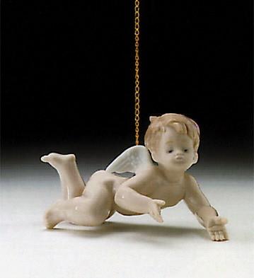 LladroPlaying Cherub 1995-97Porcelain Figurine