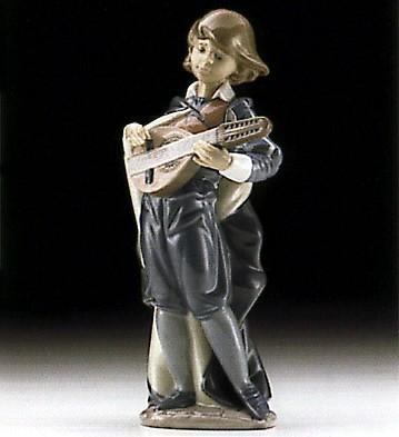 LladroYoung Mandolin Player 1996-00Porcelain Figurine